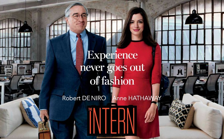 A kezdő  https://goodmenproject.com/wp-content/uploads/2015/09/The-Intern-new-poster.jpg