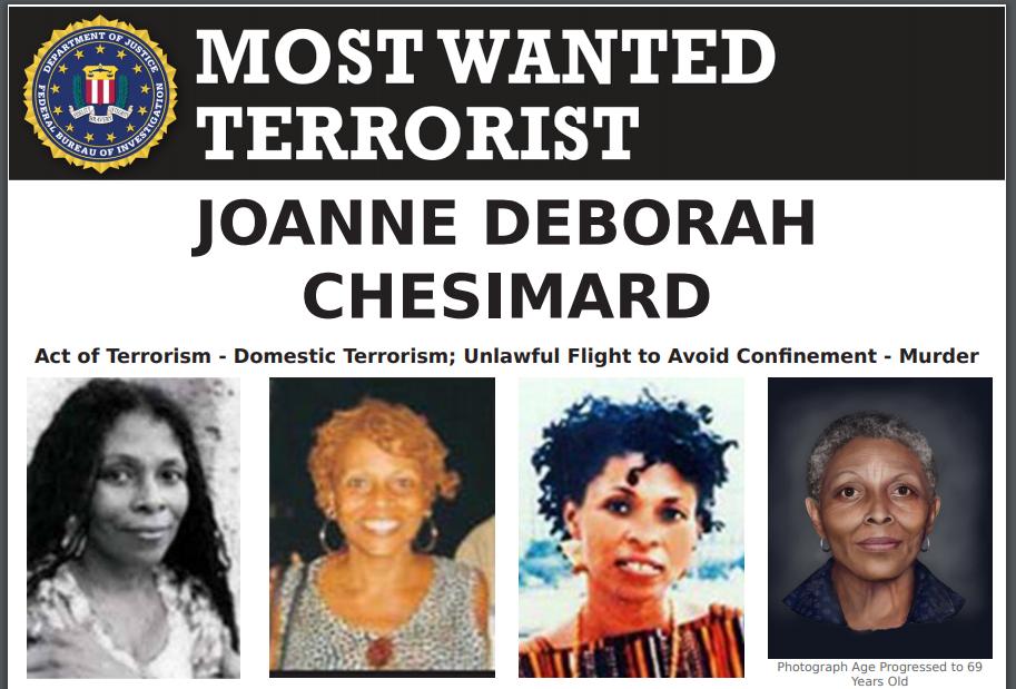 Assata Shakur még mindig szerepel az FBI legkeresettebb terroristákat tartalmazó listáján (forrás)
