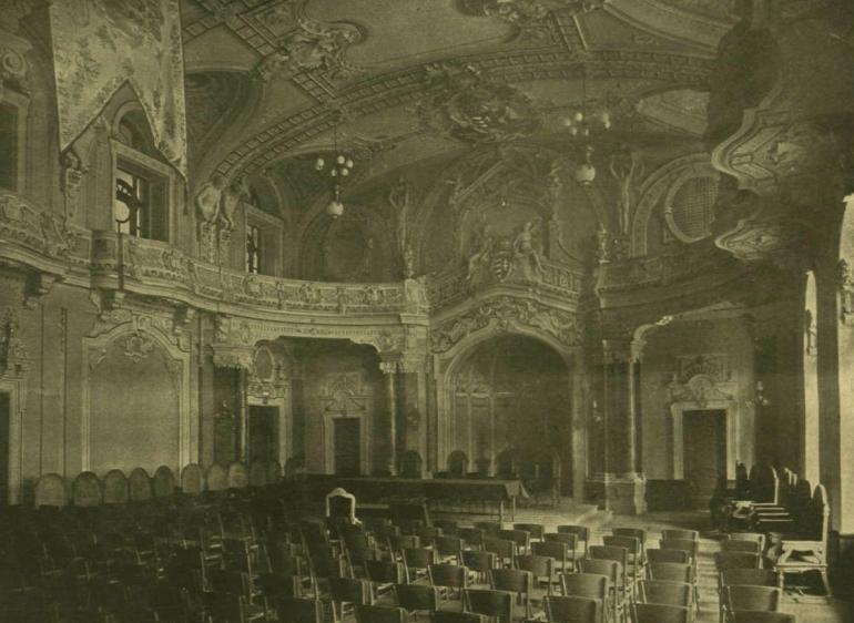 Az Aula Magna 1900-ban