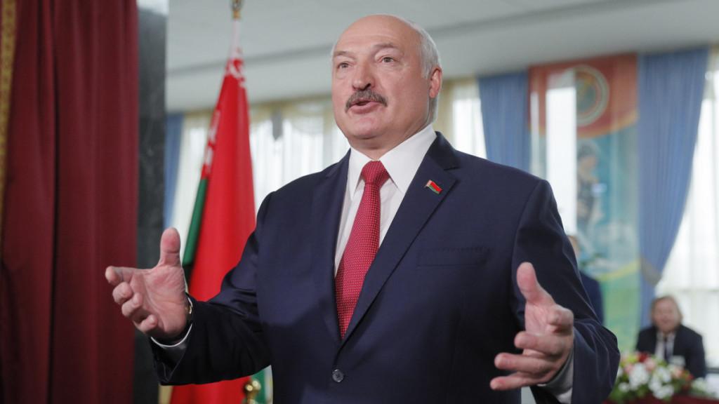 Fehéroroszország elnöke, Aljakszandr Lukasena Forrás: MTI/EPA/Szerhij Dolzsenko